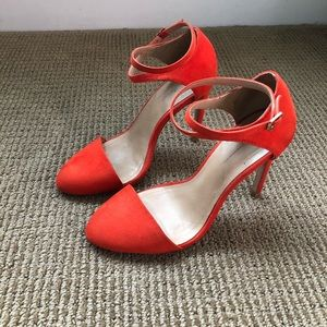 Zara coral high heel shoes